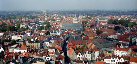 Vista da cidade de Antuérpia