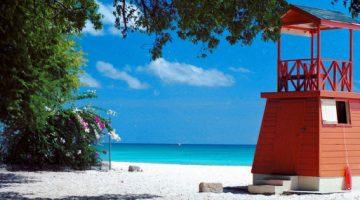 Praia perto de Bridgetown