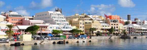 A cidade de Hamilton nas Bermudas