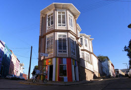 Rua Montealegre em Valparaíso