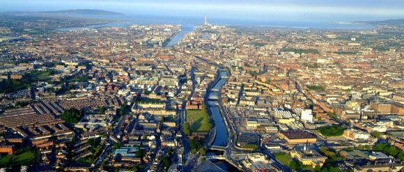 Vista do centro de Dublin