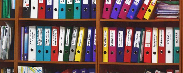 Tipo de Documentação a organizar no secretariado