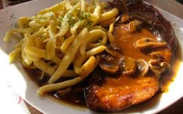 Schnitzel e Spaetzel